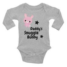 Load image into Gallery viewer, Oli & Joy Daddy's Snuggle Bunny Infant Long Sleeve Bodysuit [Various Colors]