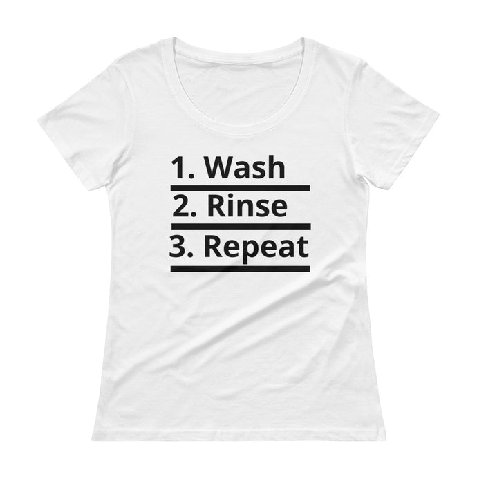 HERCurls Wash Rinse Repeat Scoopneck T-Shirt [Various Colors]