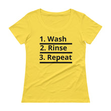 Load image into Gallery viewer, HERCurls Wash Rinse Repeat Scoopneck T-Shirt [Various Colors]