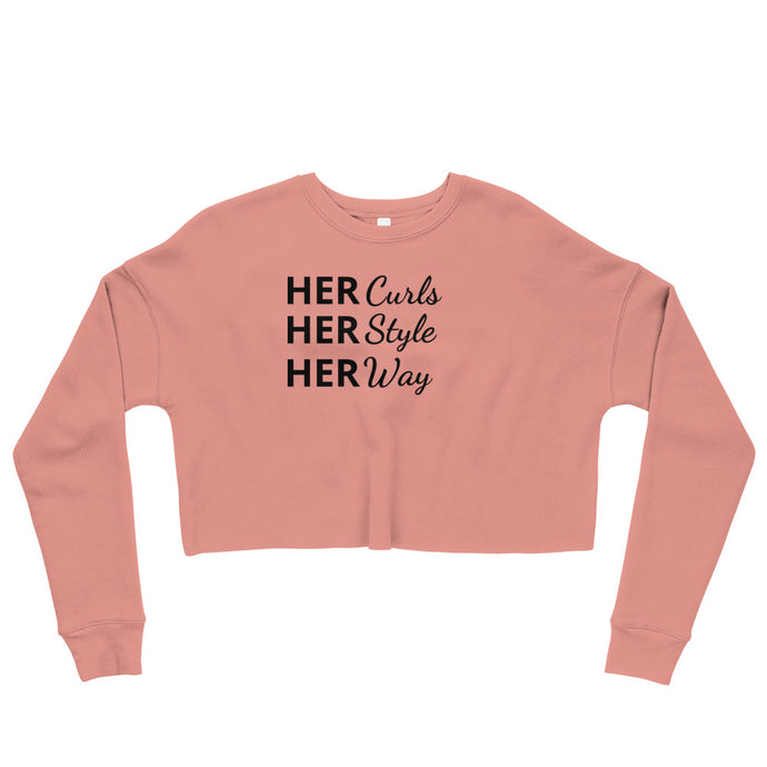 HERCurls Signature Crop Sweatshirt