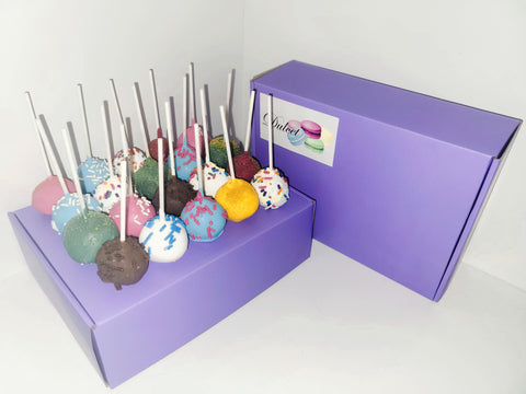Pick Your Own Cake Pop Box of 24 (Purple)