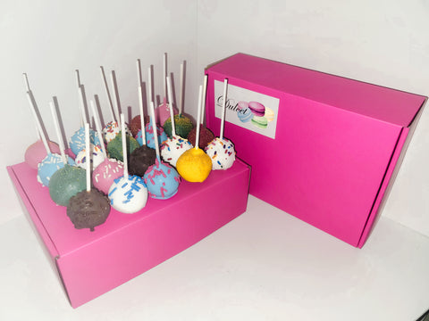 Pick Your Own Cake Pop Box of 24 (Pink)