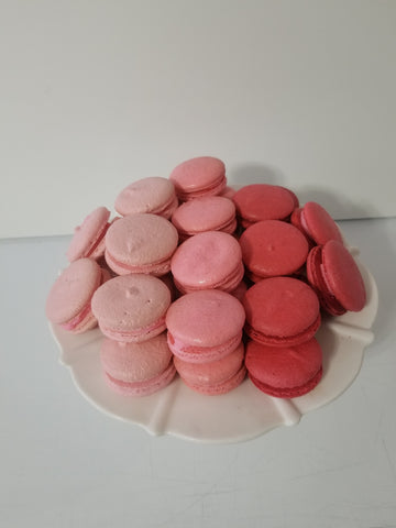 Pink Ombre Macarons (24) - Dulcet Cravings