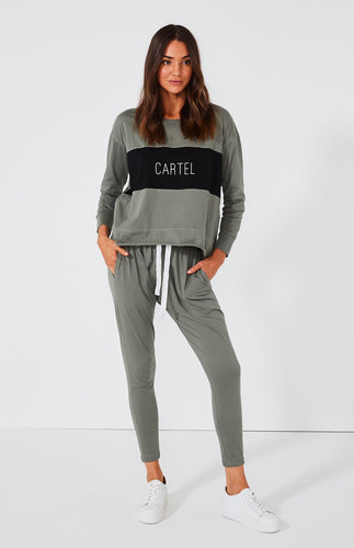CARTEL & WILLOW | Kenji Comeback Pants- Sage