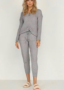 Megan Lounge Set-Grey