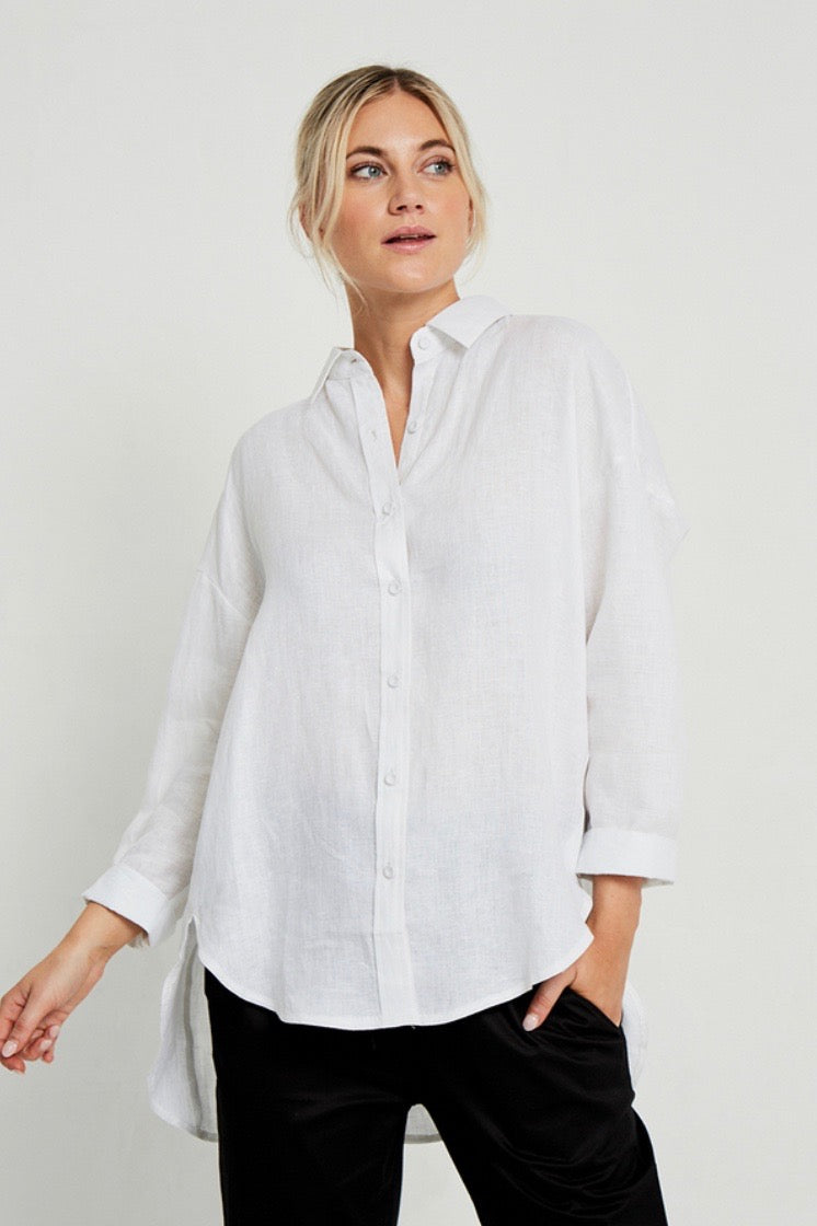 LITTLE LIES | Linen Boyfriend Shirt
