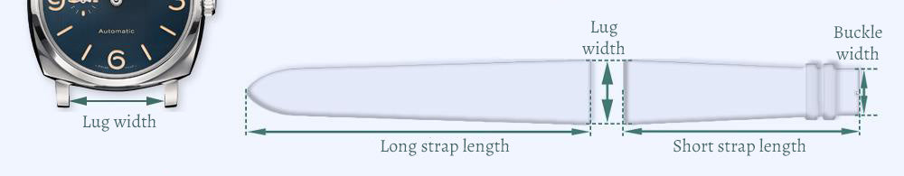 Watch strap sizing guide