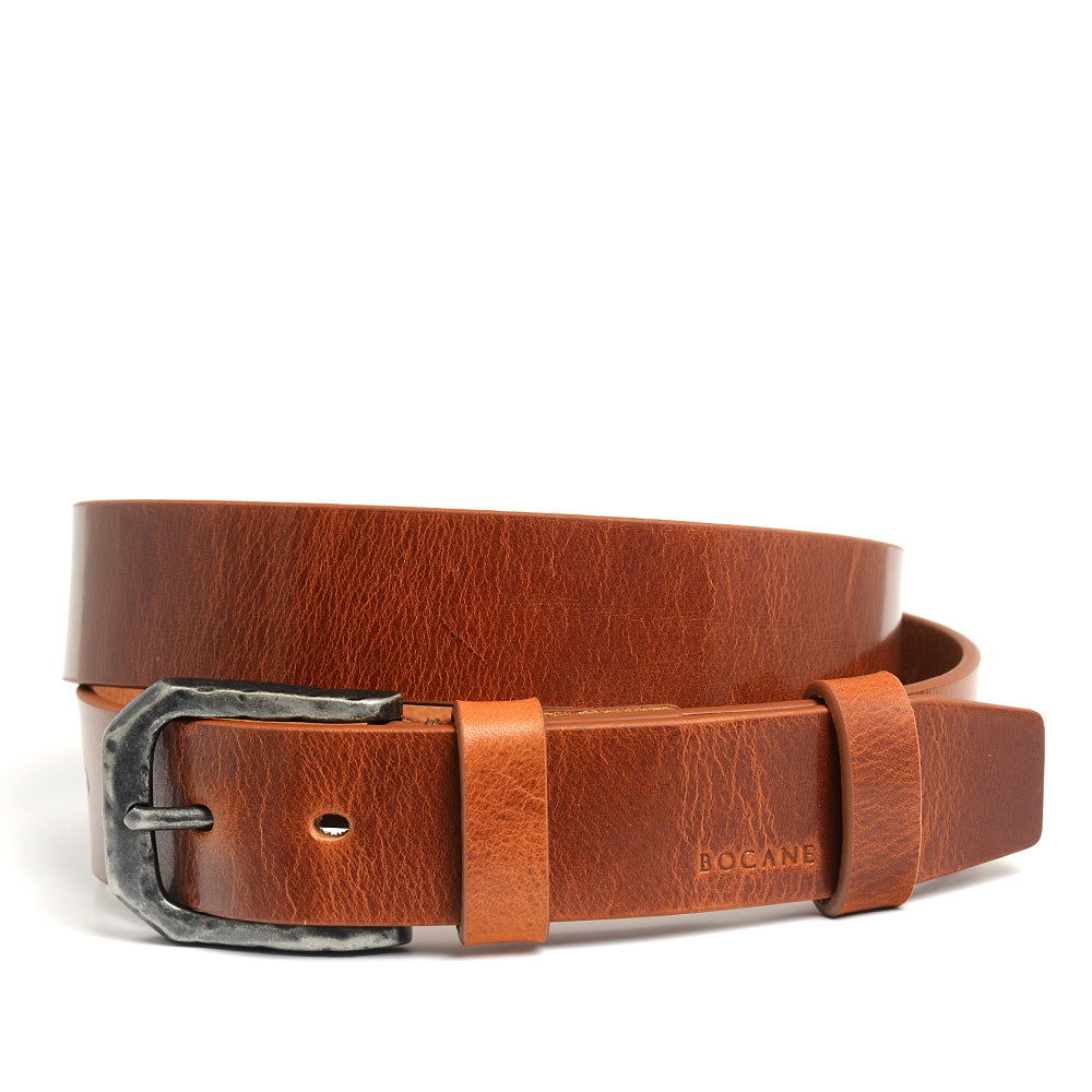 Leather Belt, Casual Collection, Full Grain Antique Cognac