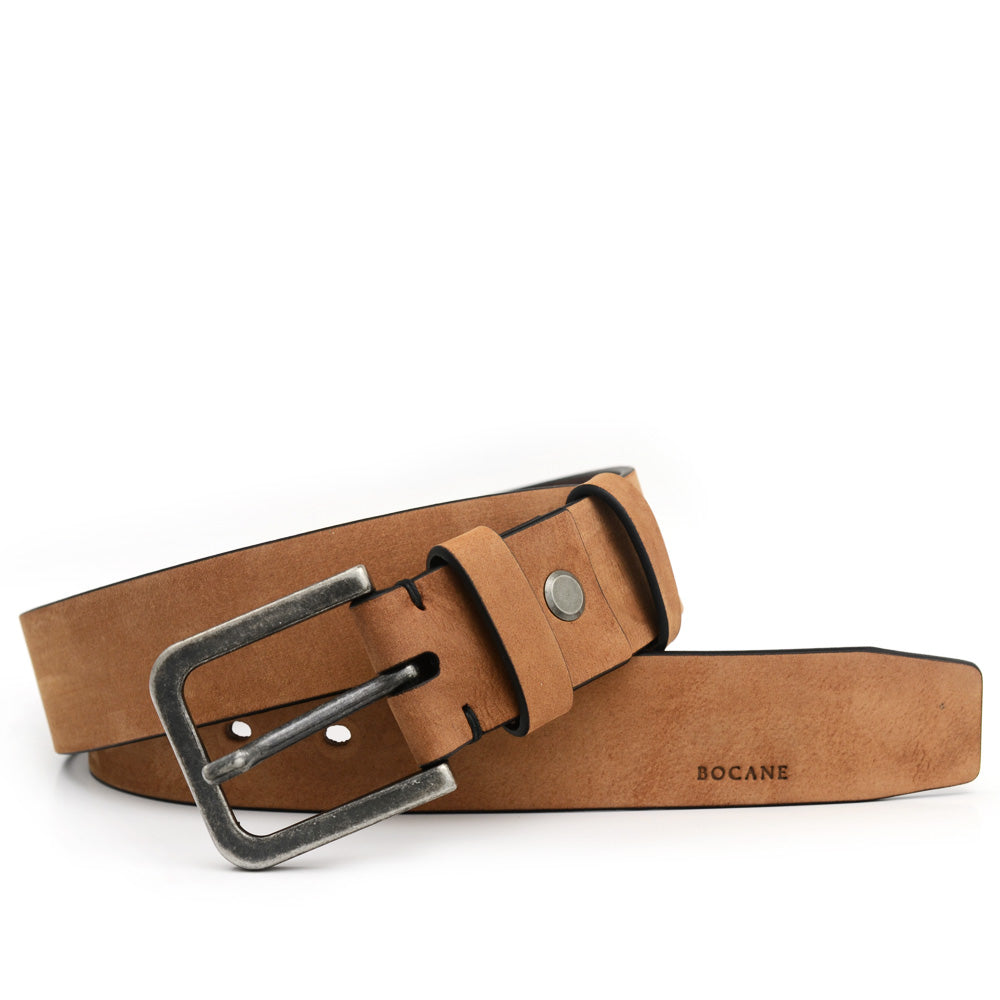 Nubuk Leather Belt, Jeans Collection, Latte Color