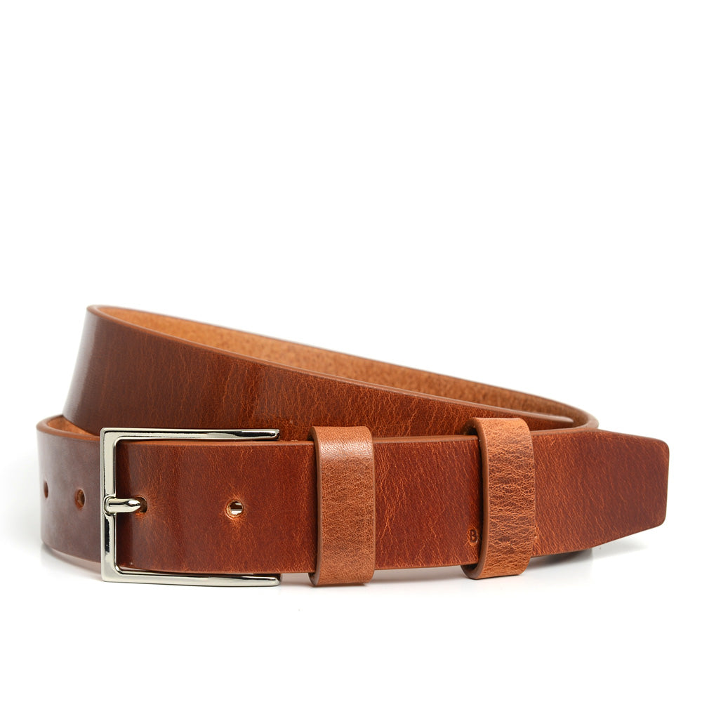 Leather Belt in Antique Cognac, Smart-Casual Collection