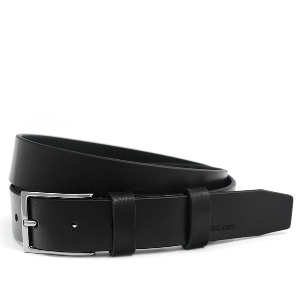 Elegant Black Belt, Casual Collection, Full Grain Leather