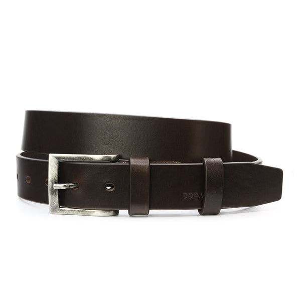 Casual Mahogany Brown Leather Belt