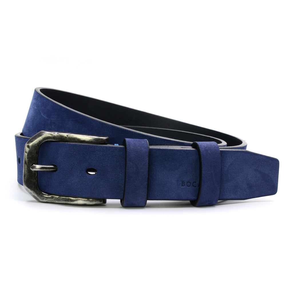 Blue Nubuk Leather Belt, Casual Collection