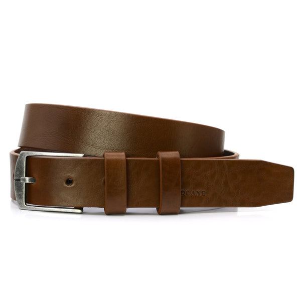 Tobacco Leather Belt, Casual Collection