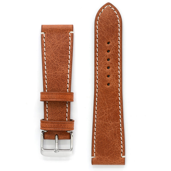Leather Strap, Cognac Antique, Medium Length