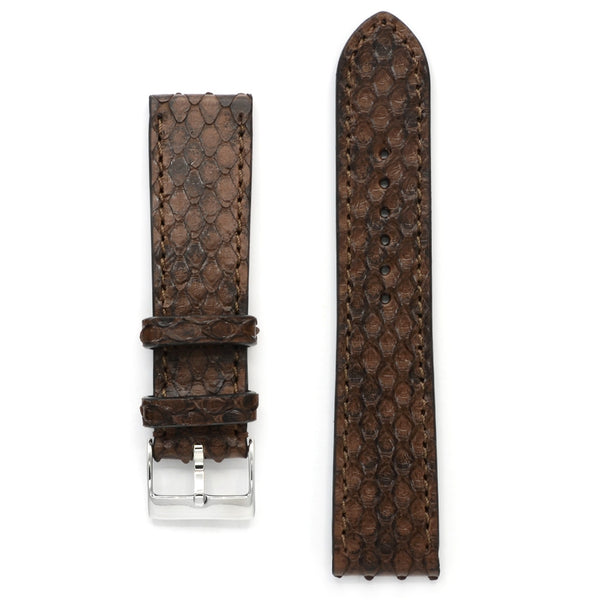 Python Watch Strap in Nature Brown, Medium Length