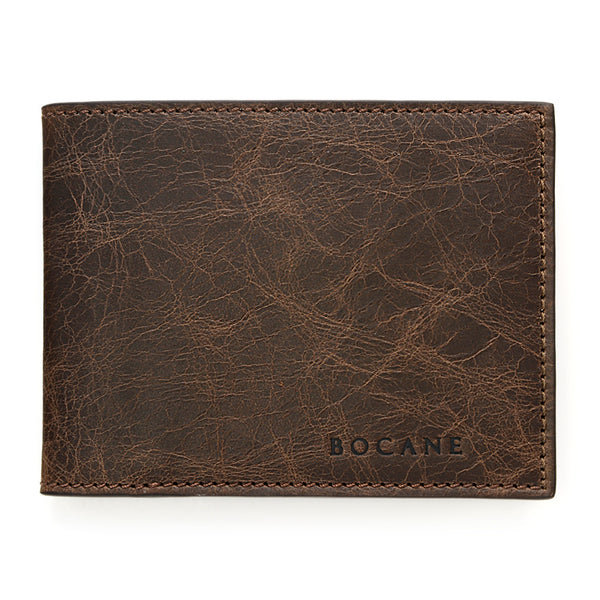 Brown Slim Leather Wallet, Antique Finish