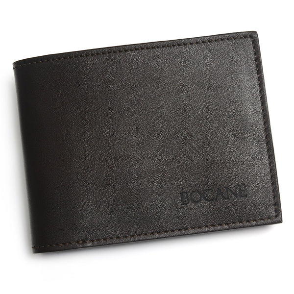 Slim Wallet, Dark Brown Full Grain Leather