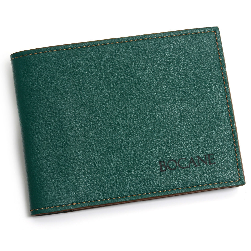 Slim Leather Wallet, Avocado Napa, Contrast Stitch