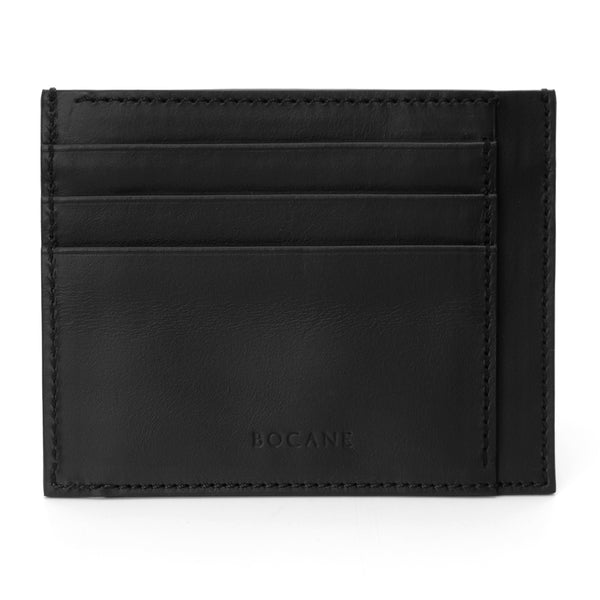 Black Calf Leather Wallet, Extra Slim