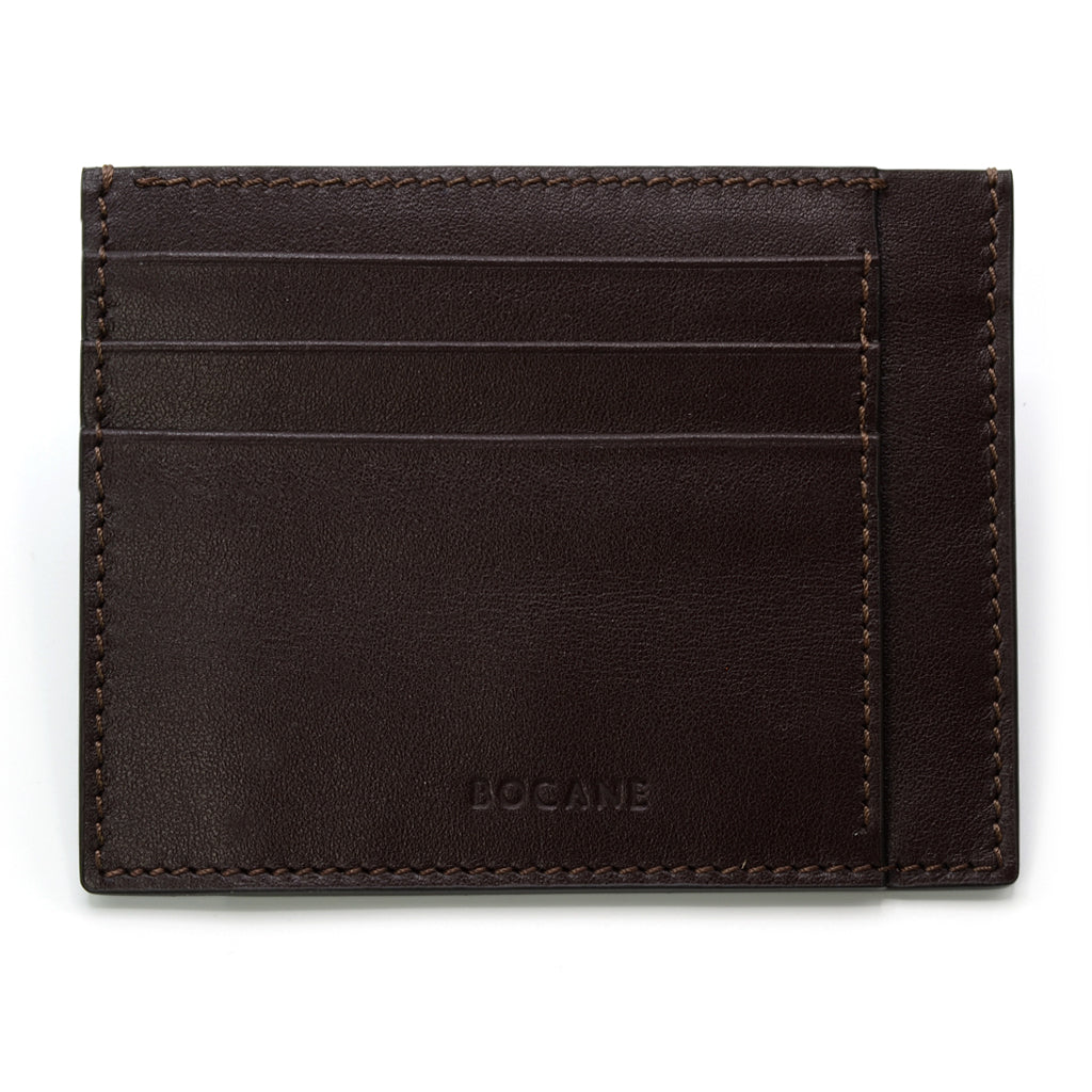 Dark Brown Full Grain Leather Card Case