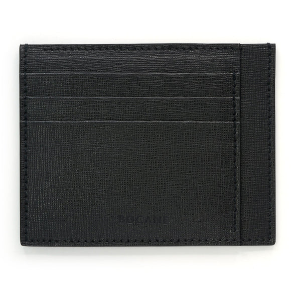 Black Saffiano Leather Wallet, Extra Slim