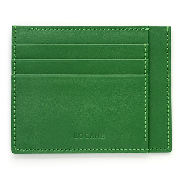 Full Grain Leather Wallet, Extra Slim, Bright Green