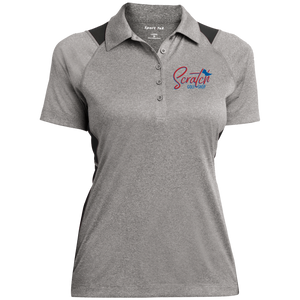 Scratch Color Sport-Tek Ladies' Heather Moisture Wicking Polo