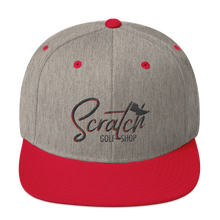Load image into Gallery viewer, Snapback Hat Black and Red - Scratch Golf Shop