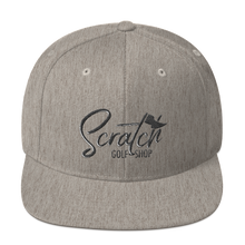 Load image into Gallery viewer, Black Scratch Snapback Hat - Scratch Golf Shop