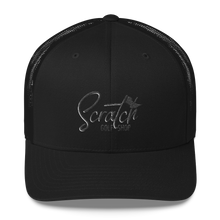 Load image into Gallery viewer, Black Scratch Mesh Back Cap - Scratch Golf Shop