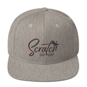 Snapback Hat Black and Red - Scratch Golf Shop