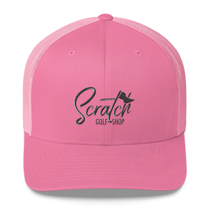 Black Scratch Mesh Back Cap - Scratch Golf Shop