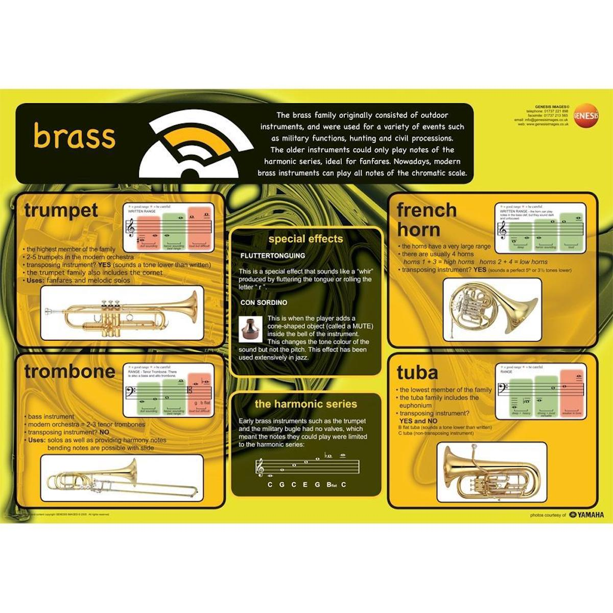 Brass Instruments - A1 wall poster