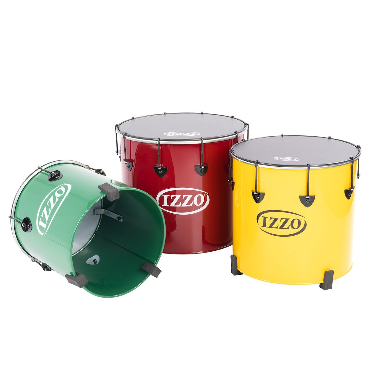 "Izzo Castle Surdos: Set of 3 nesting samba drums - 14"", 16"", 18"""