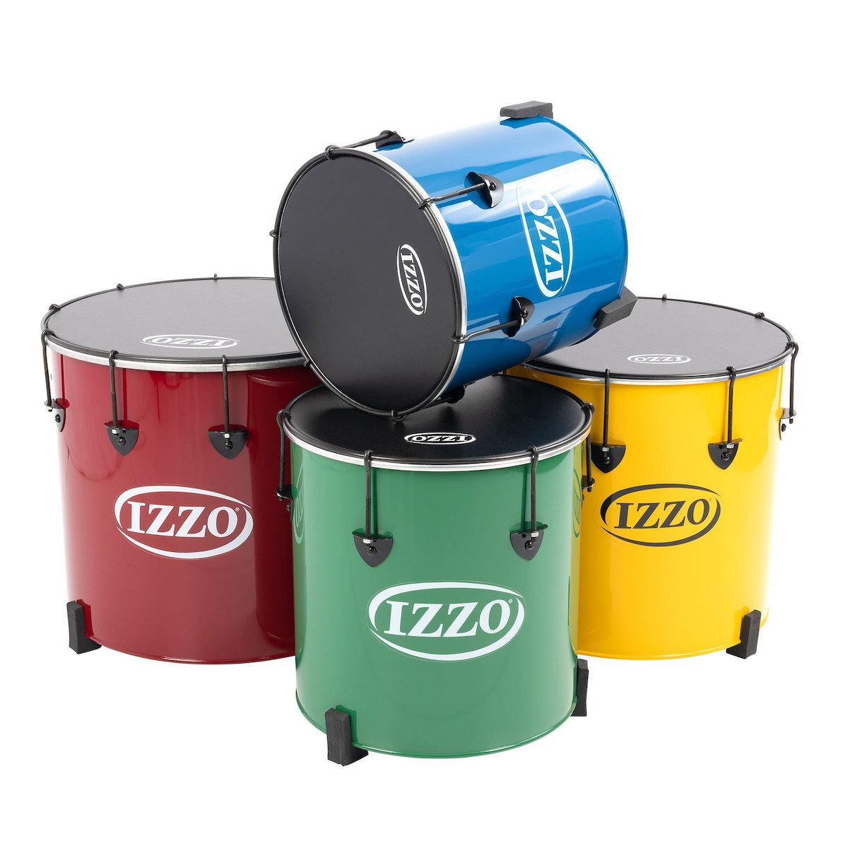 "Izzo Castle Surdos: Set of 4 nesting samba drums - 12"", 14"", 16"", 18"""
