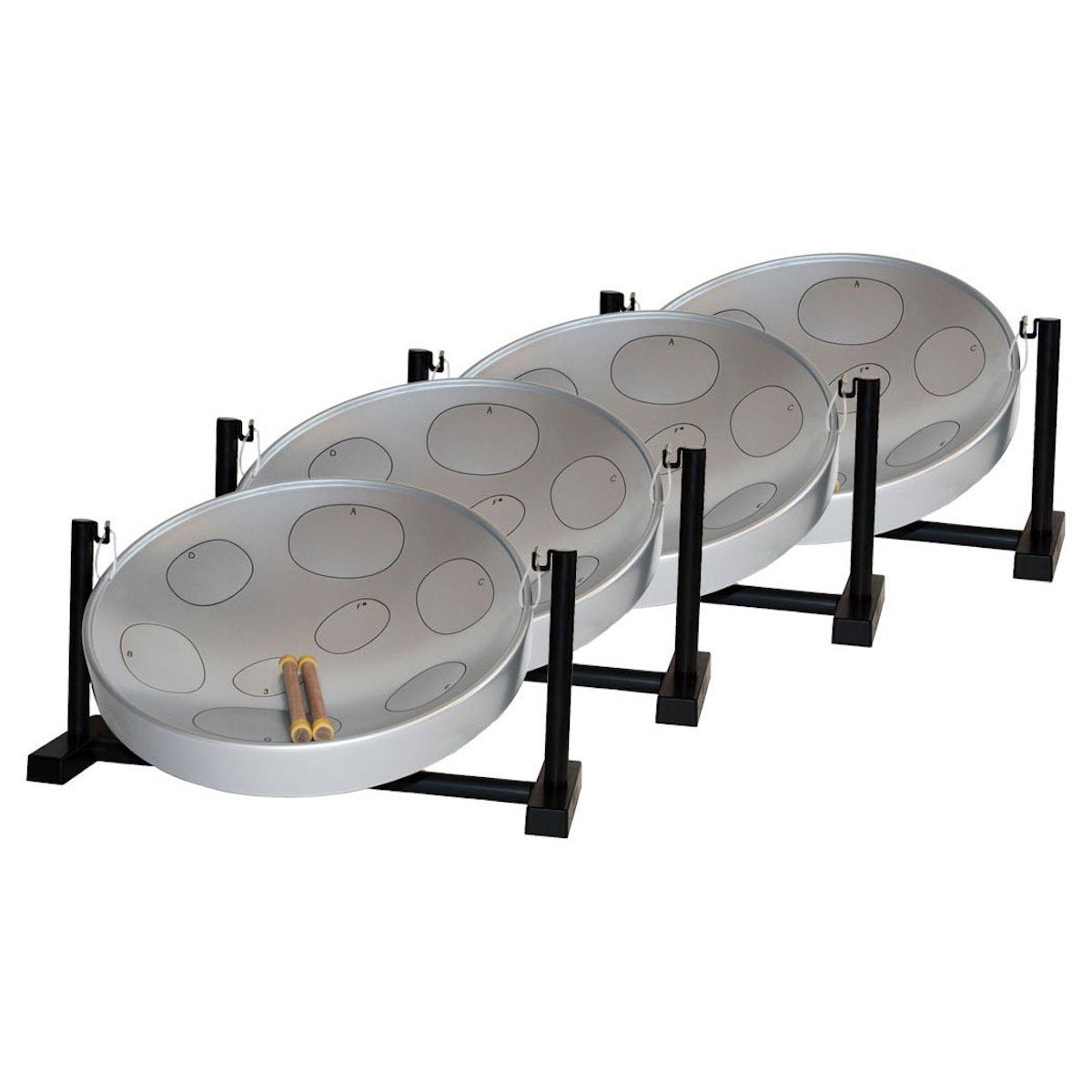 Jumbie Jam Table Top Steel Pan - Set of 4 in Various Colours