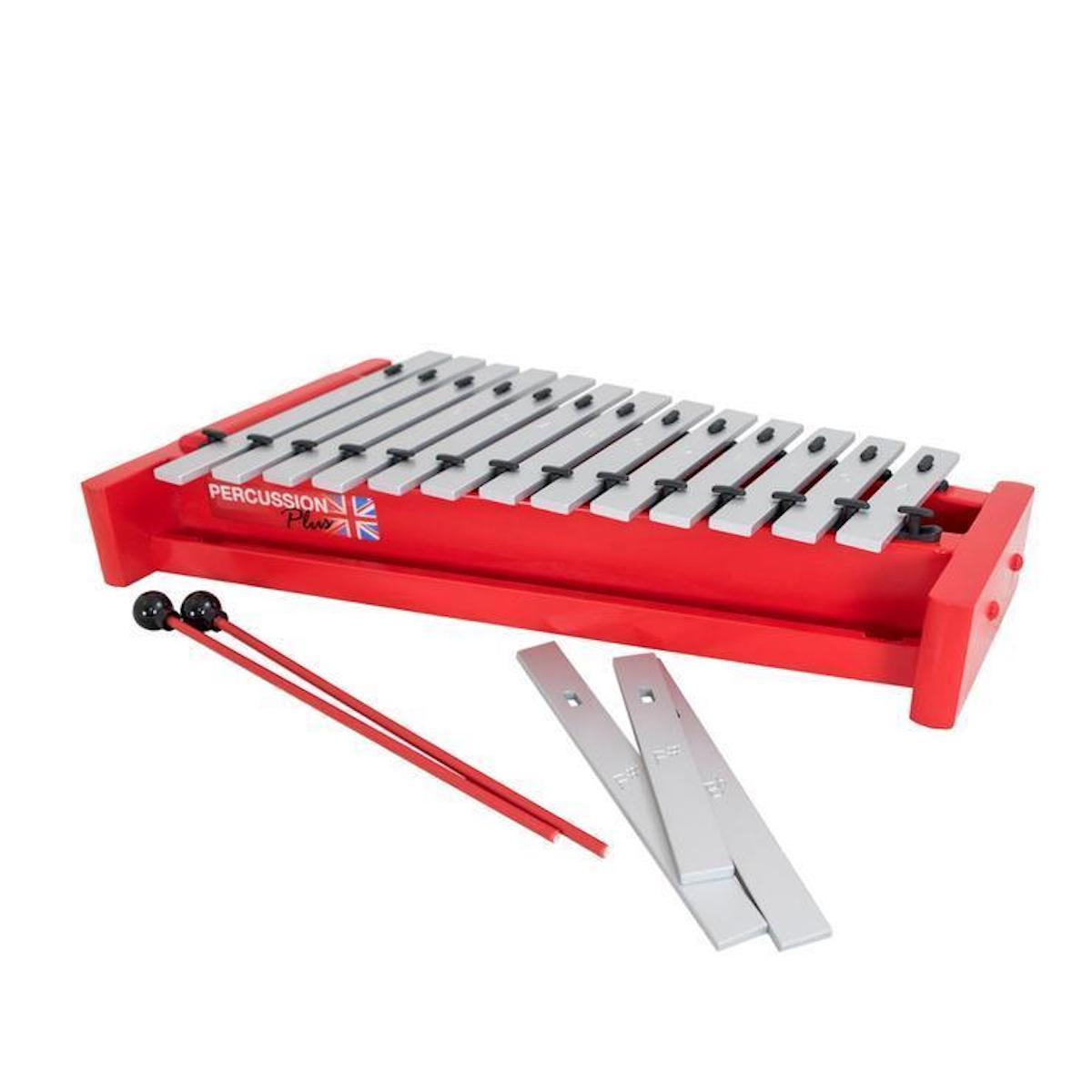 Percussion Plus Classic Red Box Soprano Diatonic Glockenspiel