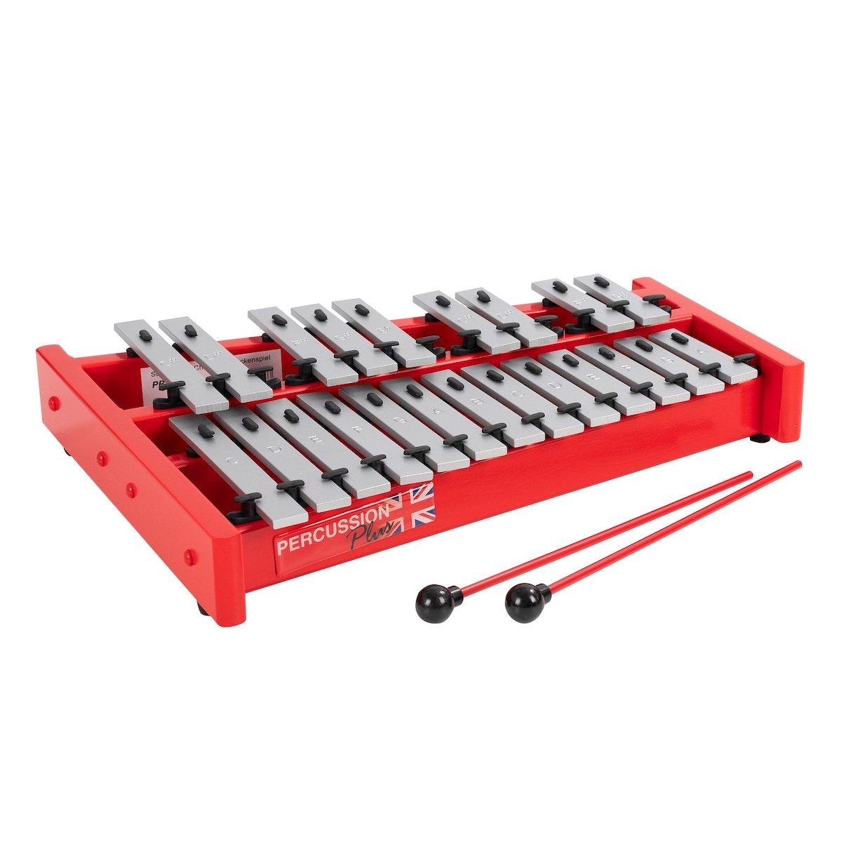 Percussion Plus Classic Red Box Soprano Glockenspiel - 1.5 octave