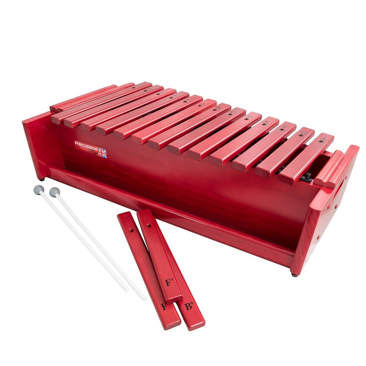 Percussion Plus Classic Red Box Alto Diatonic Xylophone