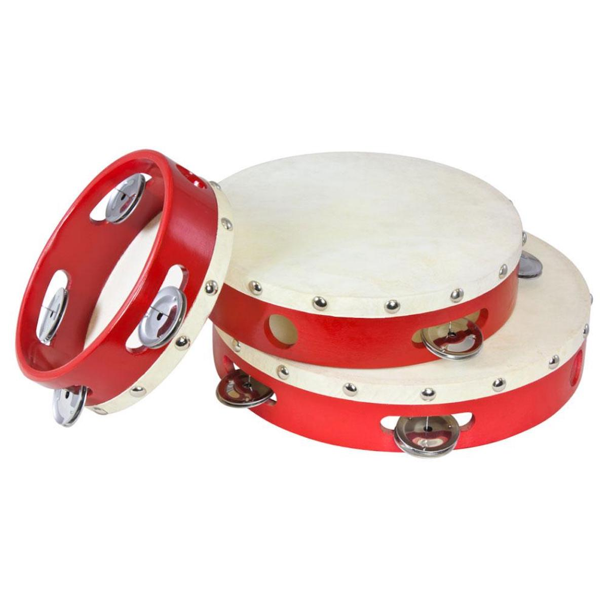 "Percussion Plus Tambourine Wood Shells - 6"", 8"" and 9"" pack"