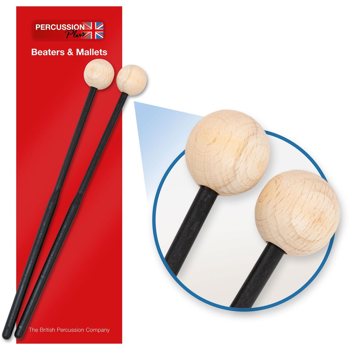 Percussion Plus Pair of Beaters - Hard