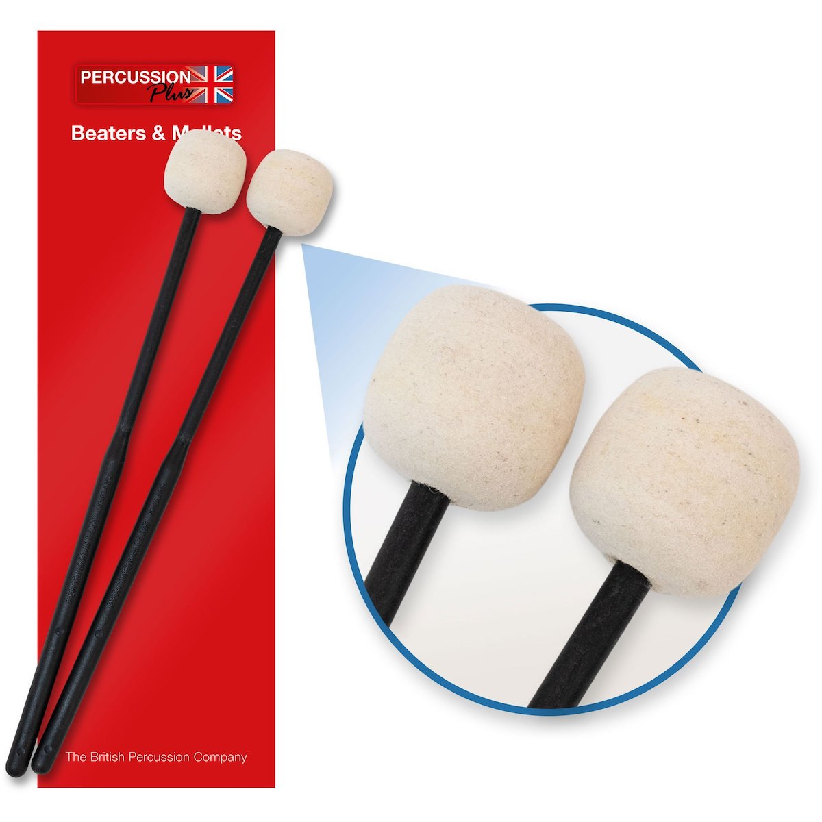 Percussion Plus Felt Beaters - Hard