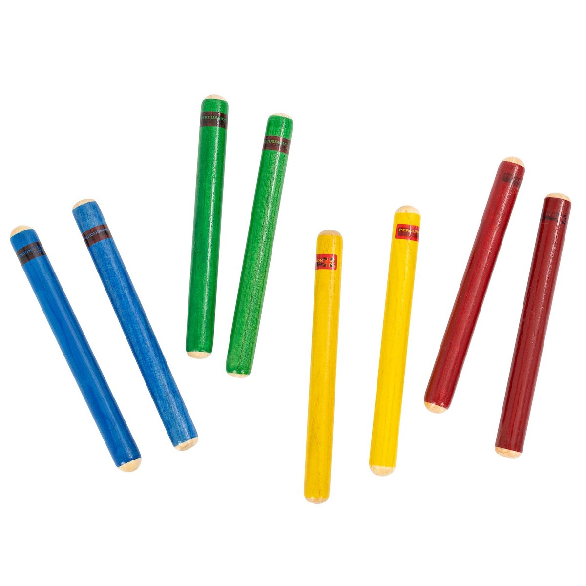 Percussion Plus Claves - Pack of 4 pairs in mixed colours