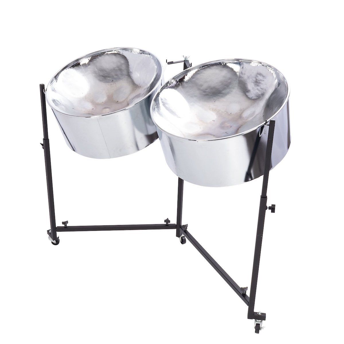 Percussion Plus Import Series Double Tenor Steel Pans in chrome finish
