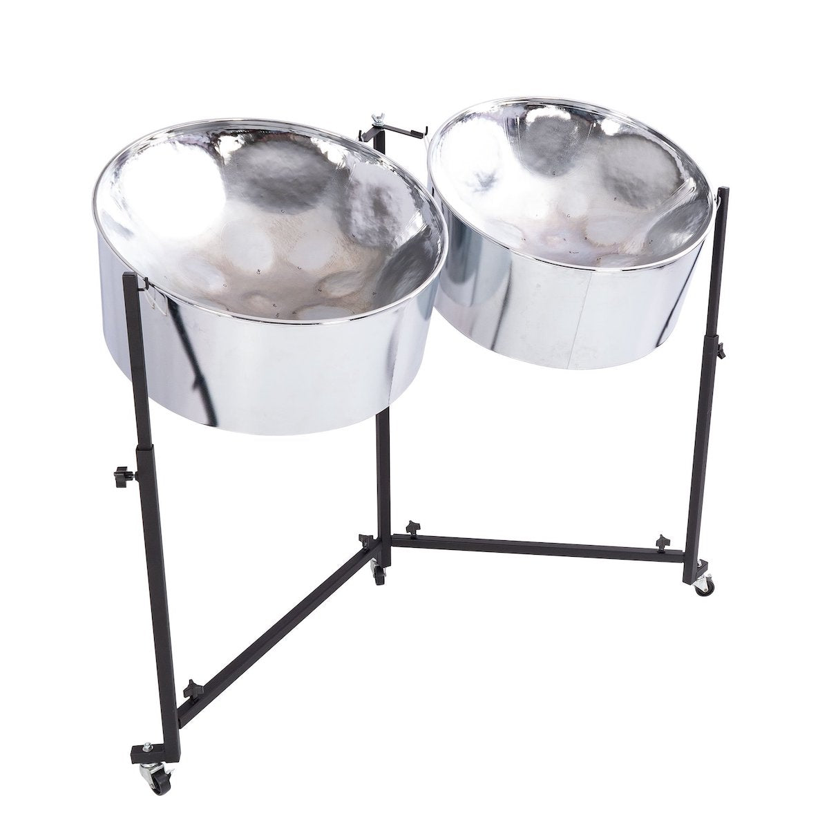 Percussion Plus Import Series Double Guitar Steel Pans in chrome finish
