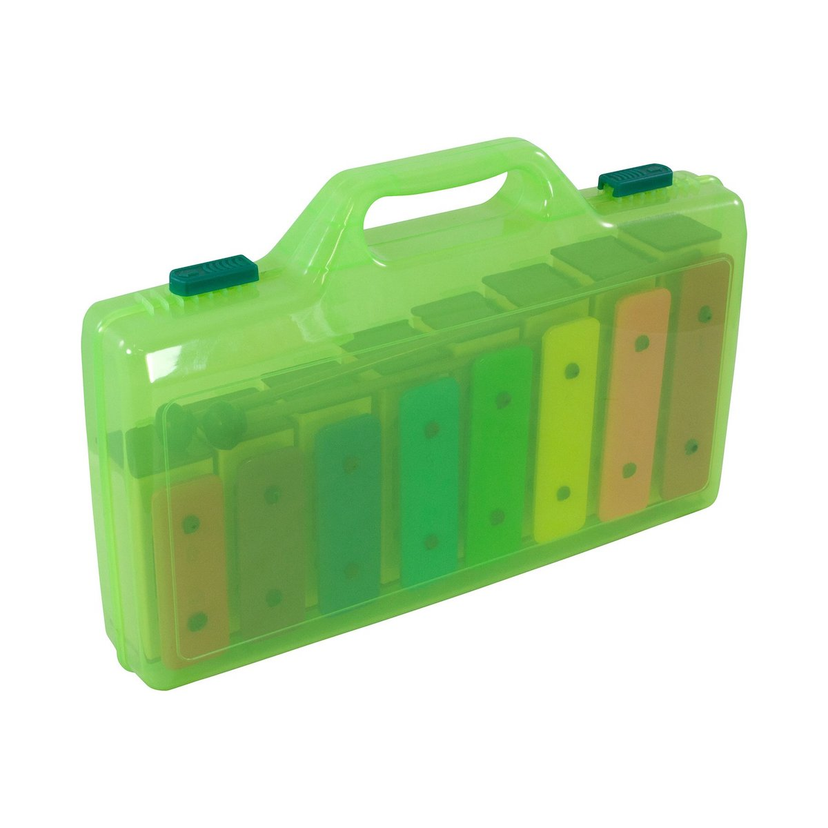 Percussion Plus Colourful Chime Bars in clear case with beaters