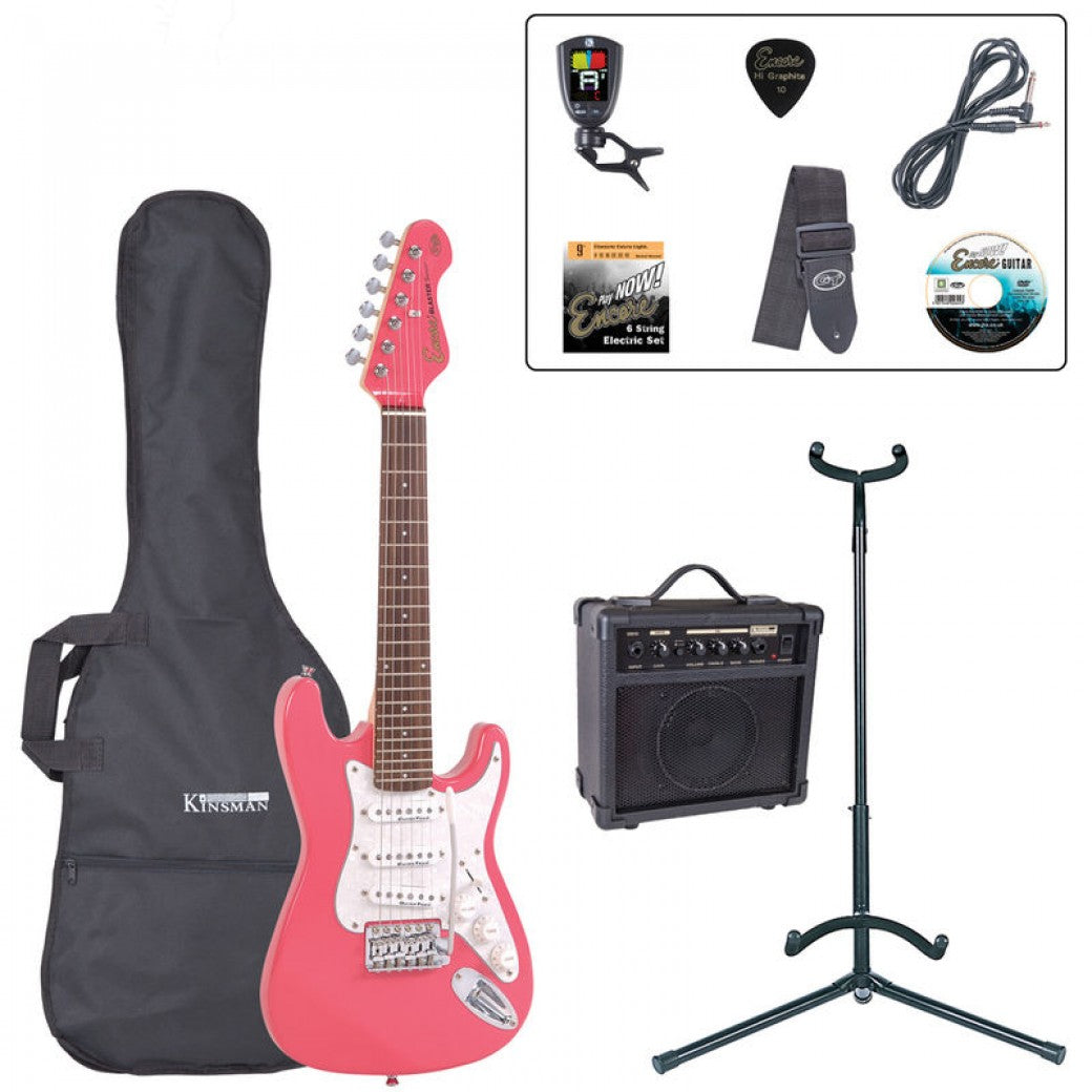 Encore 3/4 Size Electric Guitar Pack in Pink