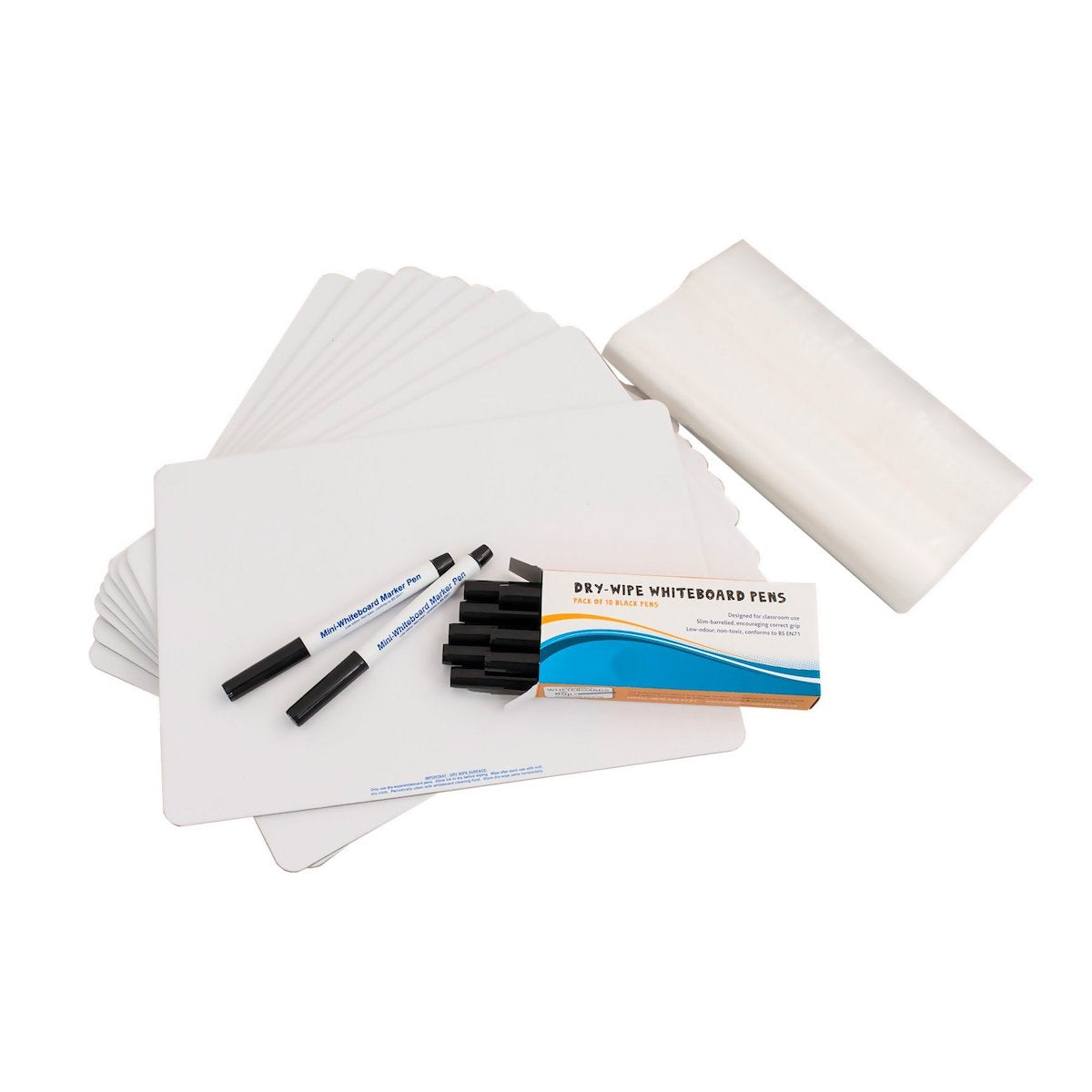 Music A4 Plain Whiteboard - Pack of 10