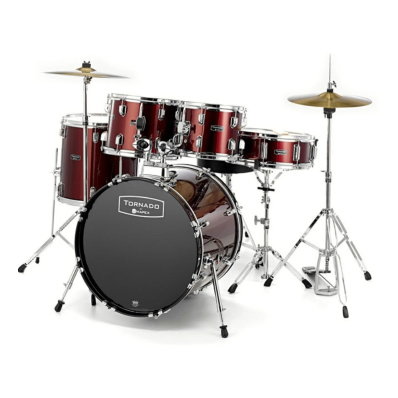 Mapex Tornado III 22 Inch Rock Fusion Drum Kit (Red)